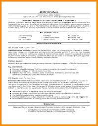Mechanic Resume Examples Wonderful Property Maintenance Technician Resume Sample Industrial Mechanic