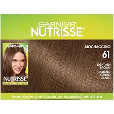 Garnier Light Brown Hair Color Price Garnier Nutrisse Haircolor Light Ash Brown Mochaccino 61