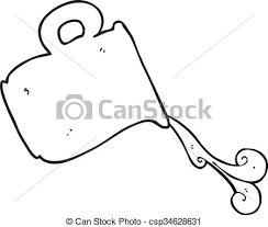 jug clipart black and white. vector - black and white cartoon pouring milk jug clipart o