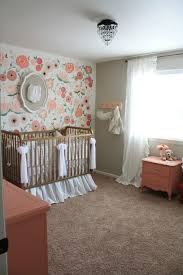23/23; Hand Painted Floral Wall Mural Nursery