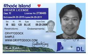 Rhode Island Markings Driver License Holograms Uv