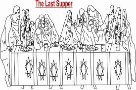 Small Picture The Last Supper coloring printable page for kids