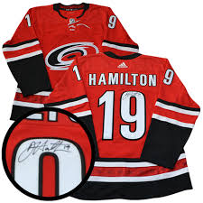 Signed - Dougie Red Adidas Hurricanes Hamilton Auctions Nhl Carolina Jersey Pro