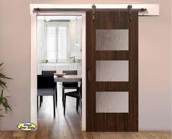 interior barn door with glass. Barn Door With 3 Glass Panels Interior D
