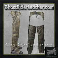 brown leather chaps in distressed ghost rider milwaukee