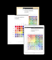 Watercolor Mixing Chart Download 5 Types Of Watercolor Charts Type 4 Color Mixing Chart