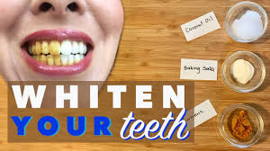teeth whitening with turmeric coconut oil baking soda natural safe