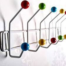 Coloured Ball Coat Rack