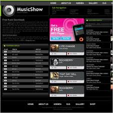 Free Downloads Web Templates Music Show Template Free Website Templates In Css Html Js