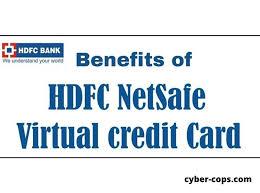 netsafe hdfc bank virtual credit card
