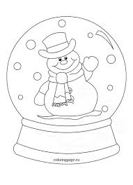 Small Picture Snowglobe clipart black and white Coloring Page