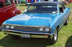 All Chevy chevy 1967 : 1967 Chevrolet Chevelle Hardtop - Blue - Front Angle