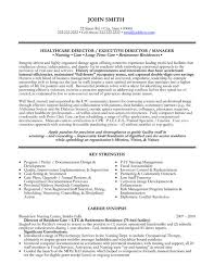 healthcare resume sample director resume sample template