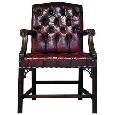 red leather chair. Delighful Leather Early 20th Century Gainsborough Style Red Leather Chair For Sale To A