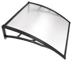 <b>One-Piece</b> Polycarbonate Hollow <b>Sheet</b>, Clear With <b>Black</b> Trim, 1