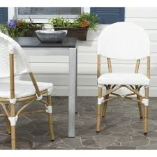 safavieh rural woven dining barrow off white indoor outdoor stackable side chairs set of 15820447 overstock great deals on safavieh dining chairs