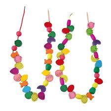 Wooden Bead Game 100pcslot Wooden Toy Fruit Number Alphabet Letter Stringing 70