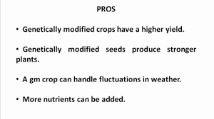 the pros and cons of gm foods video dailymotion