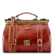 leather doctor bag monalisa with front straps