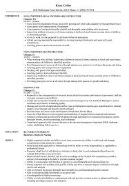 Modern Resume For Instructors Instructor Resume Samples Velvet Jobs