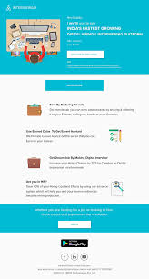 Email Template Material Design User Interface On Wacom