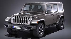 LowPoly Jeep Wrangler Sahara 2018