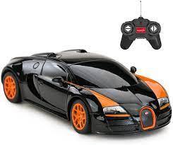 Bol com bestuurbare auto radiografisch bestuurdbare auto. Amazon Com Rastar Rc Car 1 24 Bugatti Veyron 16 4 Grand Sport Vitesse Radio Remote Control Racing Toy Car Model Vehicle Black Orange Toys Games