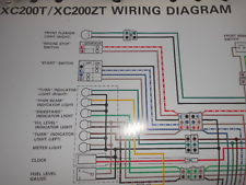 yamaha c color in antique vintage historic yamaha oem factory color wiring diagram schematic 1987 xc200t xc200 t zdt