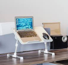 Amazon.com: Portable Laptop Table by Superjare | Foldable & Durable Design Stand  Desk | Adjustable Angle & Height for Bed Couch Floor | Notebook Holder ...