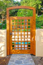 garden gates and fences. Custom Wood Open Grid Garden Gate #60 In Monterey, CA Gates And Fences