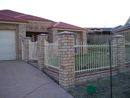 wrought iron fence brick. Cool Brick Fence Designs Minimalist And Wrought Iron Pictures N