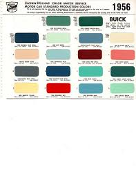 1955 1956 Buick Special Super Century Roadmaster Paint Chips