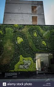 contemporary architecture building with a vertical garden in mexico city downtown