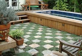 Beauty on a Budget Above Ground Pool Ideas Mixed Sign