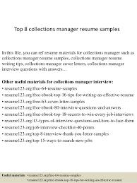 Debt Collection Manager Cover Letter Sarahepps Com