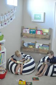 Kids Reading Space With Stripes Chairs