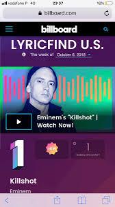 Killshot Billboard Charts