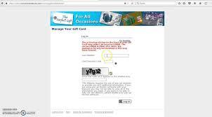 mygiftcardsite login to check balance