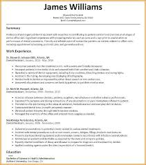 Functional Resume Examples Dental Assistant Resume