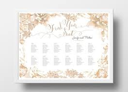 Wedding Seating Chart Poster Diy Editable Powerpoint
