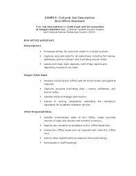 Office Assistant Resume Description Musiccityspiritsandcocktail Com