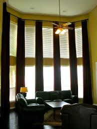 Curtains For Tall Windows Installed By Decorating On A Shoe String
