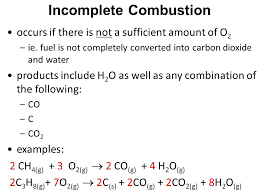 incomplete combustion of ne chemical equation tessshlo
