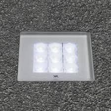 recessed floor light fixture led square outdoor lecu