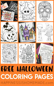 These halloween coloring pages for adults and kids are easy to print and color today! Free Halloween Coloring Pages For Adults Kids Happiness Is Homemade