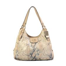 Coach Madison Embossed Metallic Python Maggie Hobo 01 ...