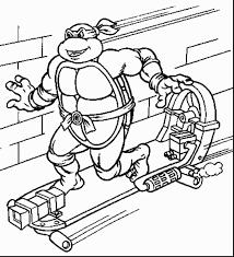 marvelous ninja turtle line art with ninja turtles coloring pages