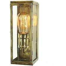 engineer small solid brass outdoor wall lantern antique finish