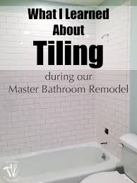 Master Bathroom Remodel: What I Learned about Tiling - a Houseful ...