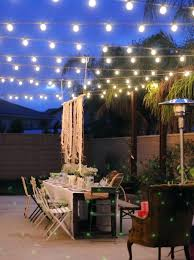 lighting ideas outdoor of bulbs string lights over including for patio inspirations with rope backyard
